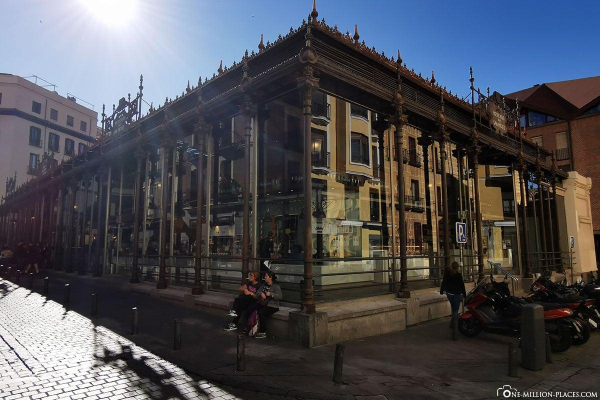 Gebäude, Mercado de San Miguel, Madrid, Spanien, Sehenswürdigkeiten, Fotospots, Reisebericht