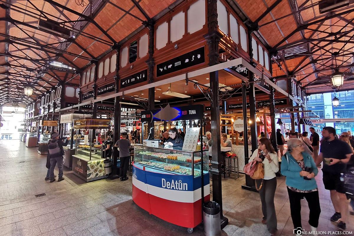 Markthalle, Mercado de San Miguel, Madrid, Spanien, Sehenswürdigkeiten, Fotospots, Reisebericht