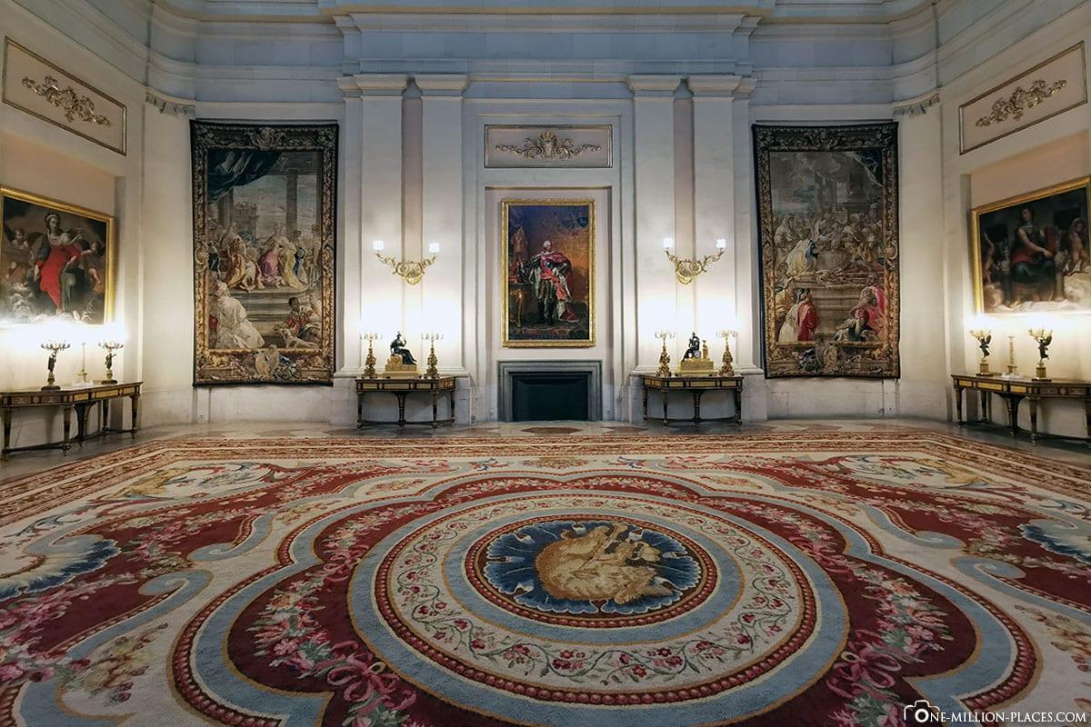 Raum, Königliche Palast, Madrid, Sehenswürdigkeiten, Stadtrundgang, Reisebericht