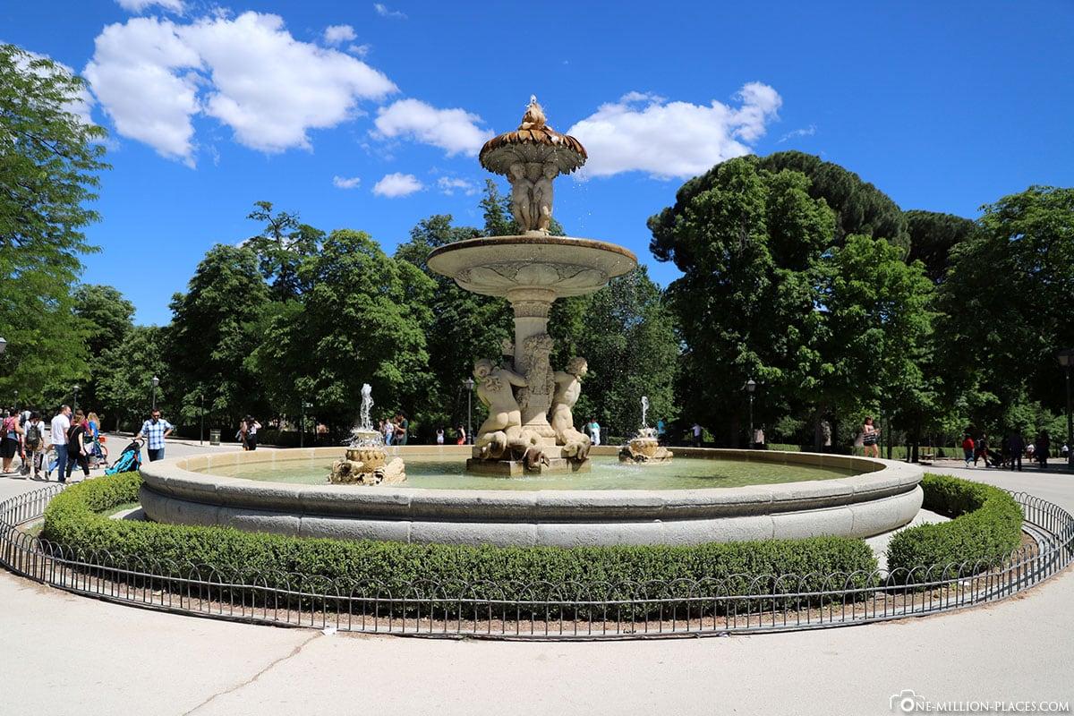 Fuente de la Alcachofa, Retiro Park, Madrid, Spanien, Sehenswürdigkeiten, Fotospots, Reisebericht