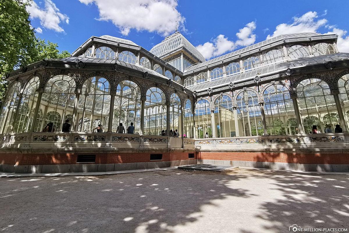 Retiro Park, Der Kristallpalast, Madrid, Spanien, Sehenswürdigkeiten, Fotospots, Reisebericht