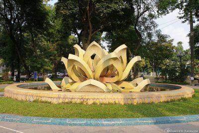 Lotusblumen Brunnen