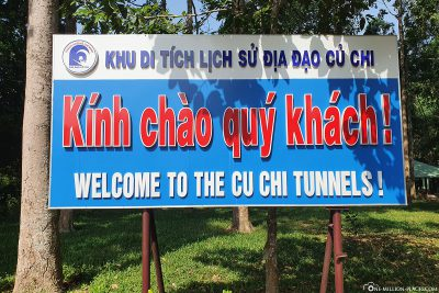 Welcome to the tunnel of Cu Chi