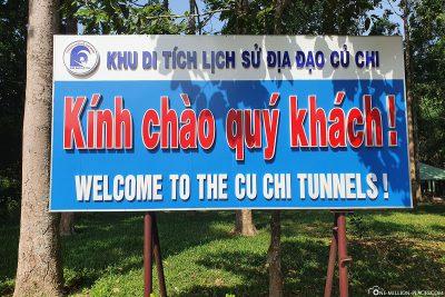 Willkommen an den Tunnel von Cu Chi