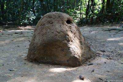 Ein Luftloch des Tunnelsystems