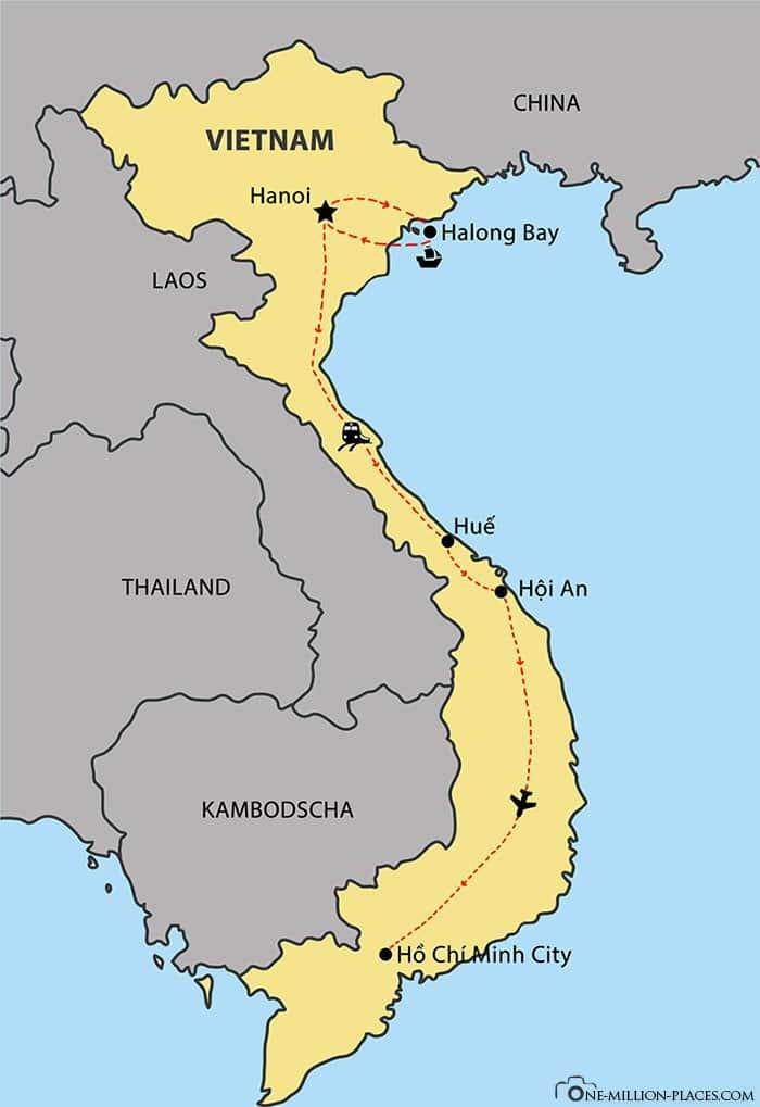 Gebeco, Typisch Vietnam, Reiseroute, Verlauf, Asien, Reisebericht