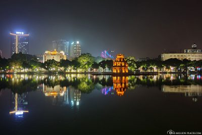 The Turtle Tower on Lake Hoan Kiem