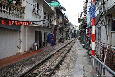 Die Eisenbahnstrecke durch die Altstadt