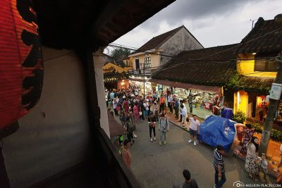 View from the balcony of the Phung Hung House