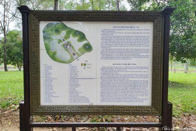 Karte vom Grabmal des Minh Mang