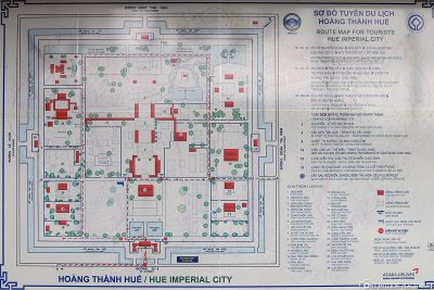 Map of the Citadel & Imperial Palace in Hue