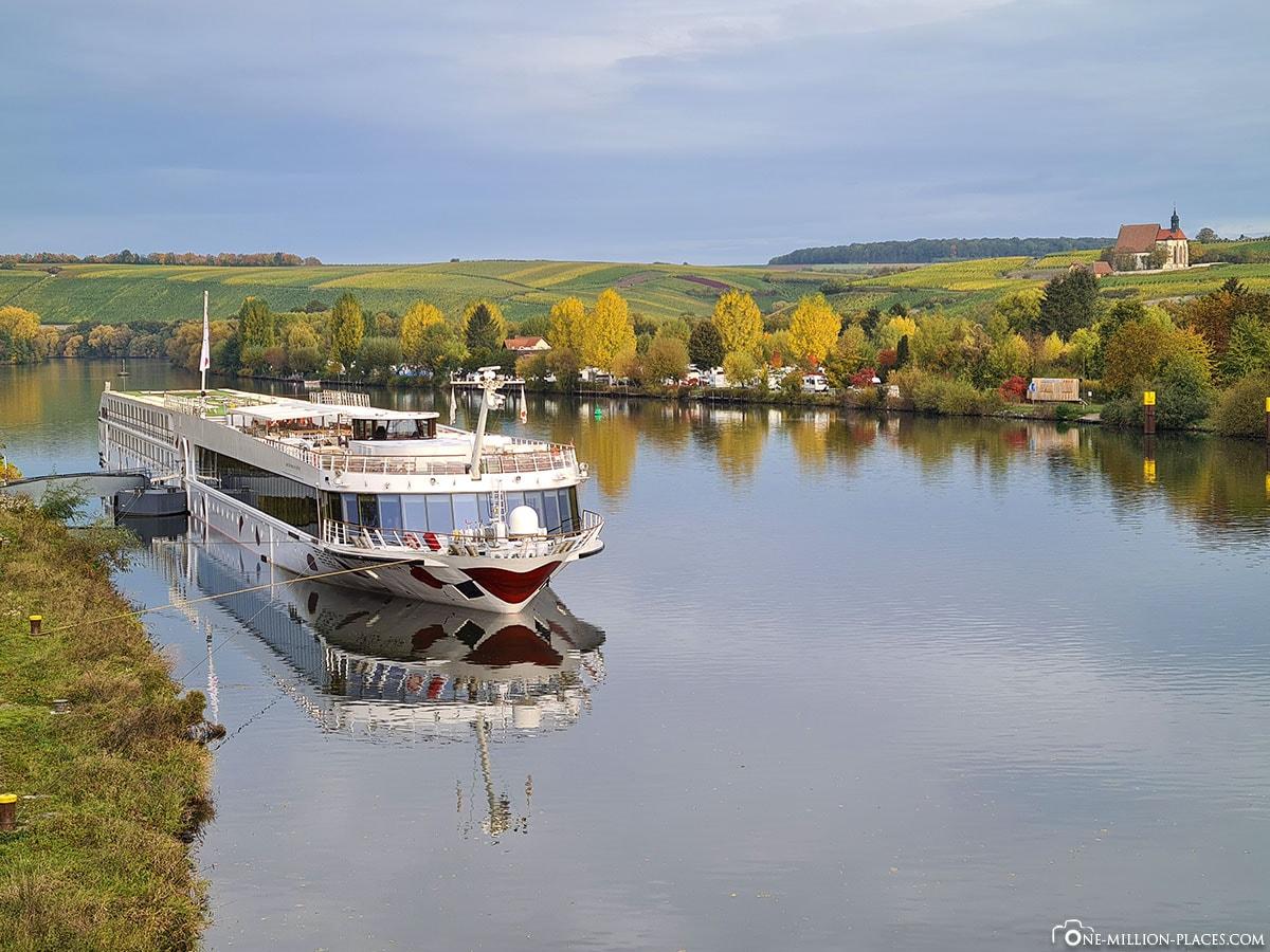 A-ROSA Volkach, Anlegestelle, Main, Flusskreuzfahrt, Reisebericht