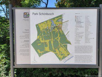 Karte der Parkanlage Schönbusch