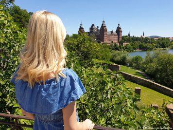 Blick auf das Schloss in  Aschaffenburg