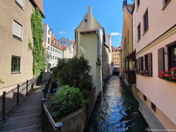 Ein Lech-Kanal