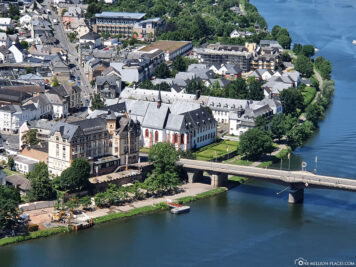 The banks of the Moselle in Bernkastel-Kues