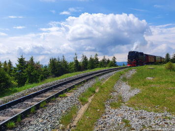 The railway line just before the summit of the Brocken