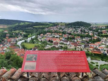 Blick von der Burg auf Harburg