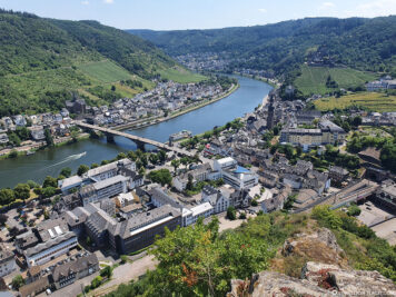 View over Cochem and the Moselle