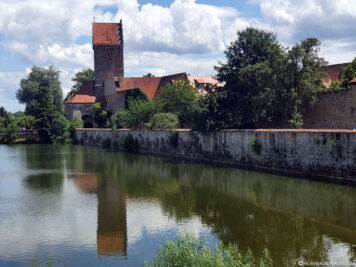 City wall at the Rothenburg pond