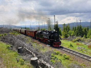 Ein entgegenkommender Zug