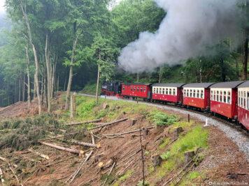 Die Zugstrecke nach Drei Annen Hohne
