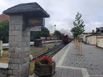 Gleis 1 am Bahnhof Wernigerode