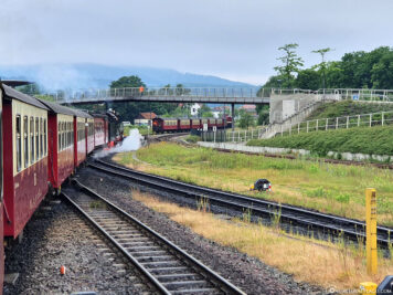 Abfahrt am Bahnhof Wernigerode