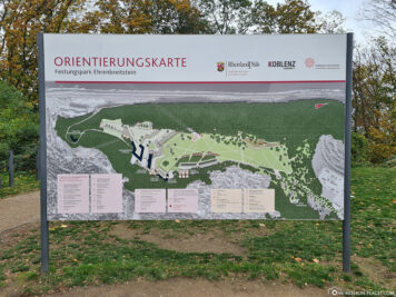 Karte vom Festungspark Ehrenbreitstein