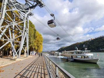 Die Seilbahn in Koblenz