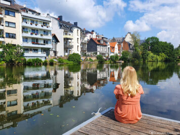 Blick auf die Lahn in Marburg