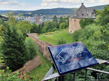 The north moat of the fortress Marburg