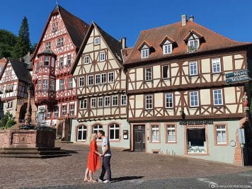 Half-timbered houses on the old market square