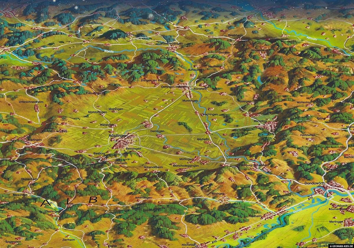 Nördlinger Ries, Karte, Deutschland, Wissenswertes, Reisebericht