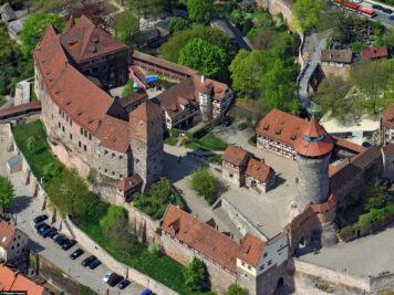 Luftaufnahme der Nürnberger Burg