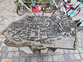 Modell der Altstadt von Nürnberg