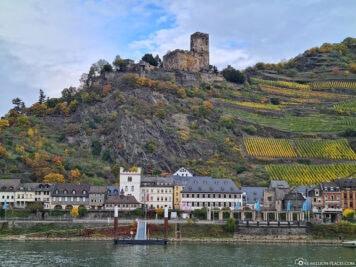 Die Burg Gutenfels am Rhein