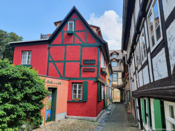 Half-timbered hotel Vorhof to hell