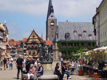 Market square in Quedlinburg