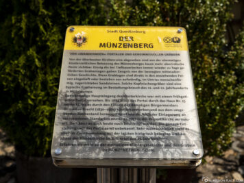 Info board on the Coin Mountain