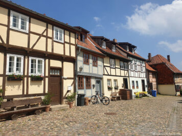 Half-timbered houses on the Münzenberg