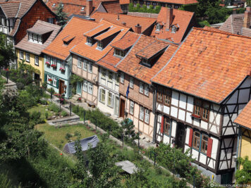 The half-timbered houses on Schlossberg