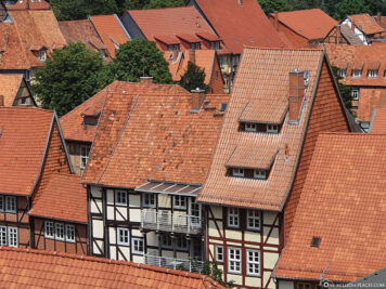 View of the roofs of the old town