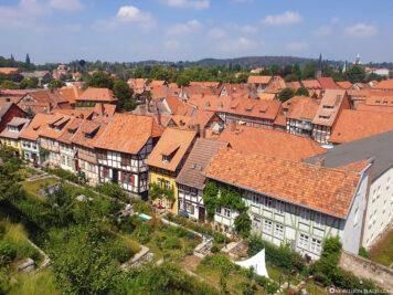 Blick auf die Altstadt von Quedlinburg