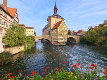 The landmark of Bamberg above the Regnitz