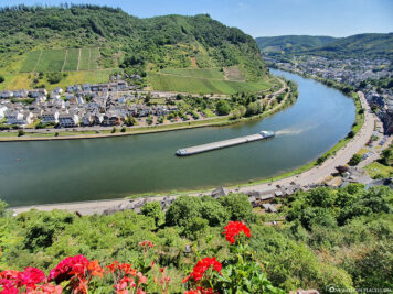 View of Cochem and the Moselle