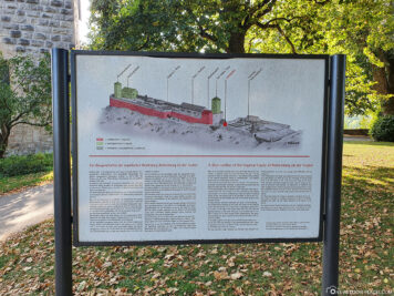 Information board about the Reichsburg in Rothenburg