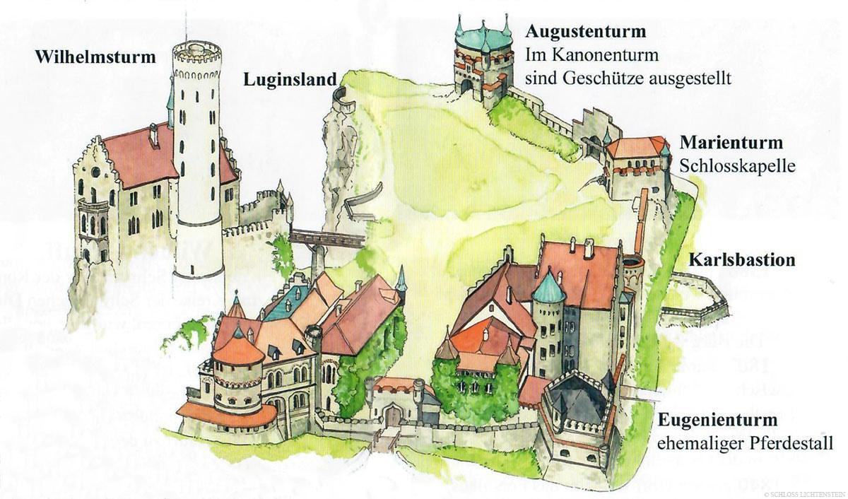 Schloss Lichtenstein, Karte, Plan, Reisebericht, Lage, Information, Blog