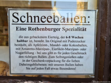 Snowbal - a Rothenburg specialty
