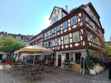 Half-timbered house in the city centre